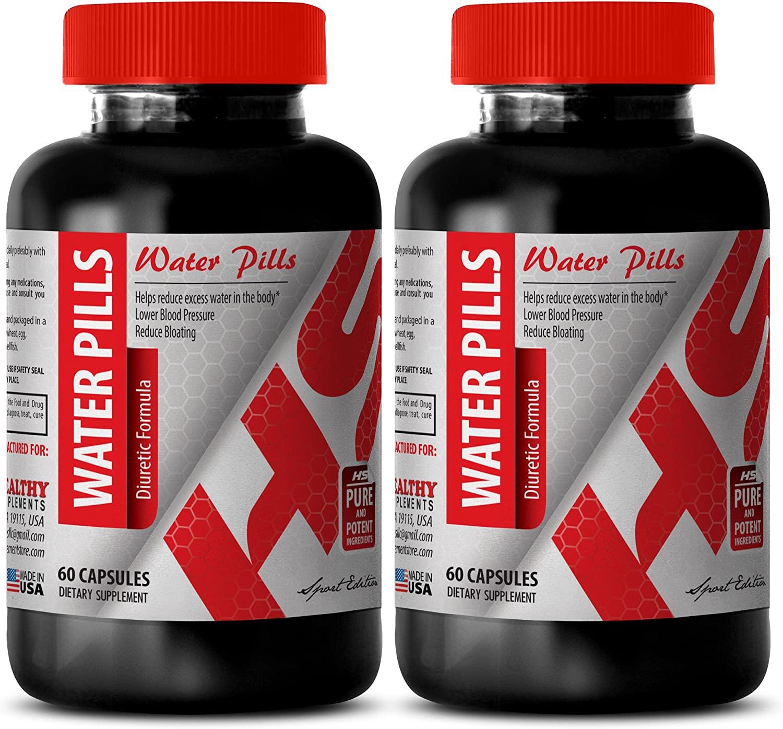 Organic Green Tea Extract Capsules - Water Pills Diuretic Formula - Promote Blood Vessels (2 Bottles)