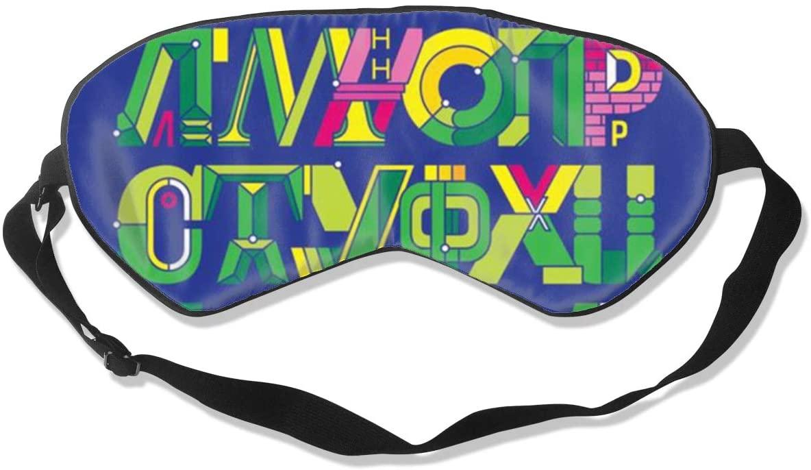 Sleep Eye Mask For Men Women,Colorful Alphabet Letters Soft Comfort Eye Shade Cover For Sleeping