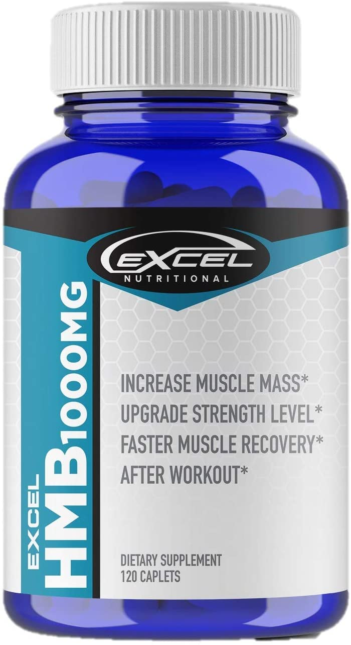 EXCEL HMB 1000mg Per Capsule .120 CAPS -Natural Stamina, Endurance and Strength and Metabolism Booster.