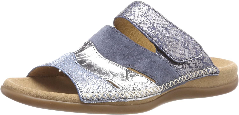 Gabor Womens Jollys Mules, Blue Cielo Argento Jean, 3.5 UK