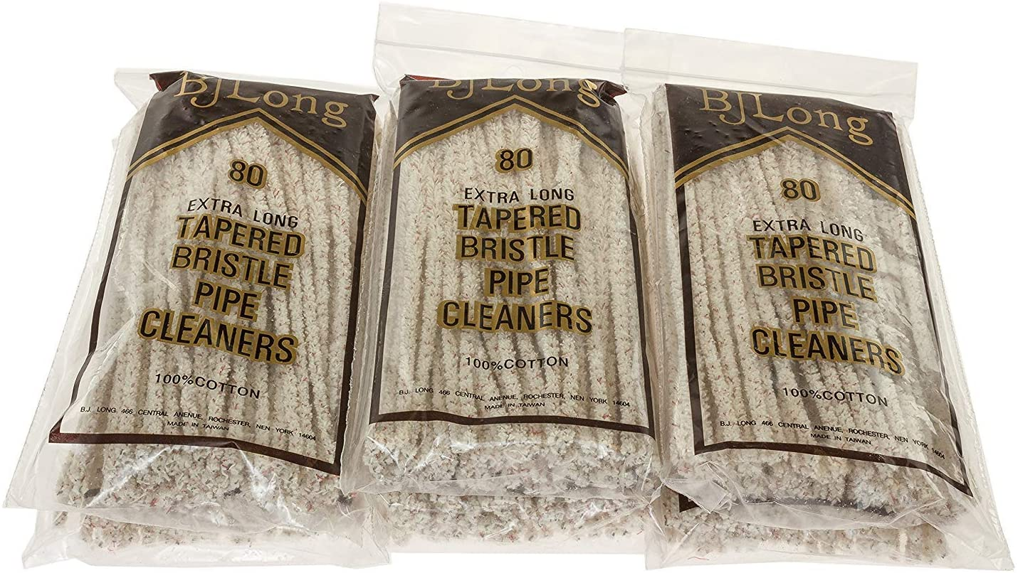 BJ Long Extra Long Tapered Bristle Pipe Cleaners 80 Pack - 6 Pack TP-1429