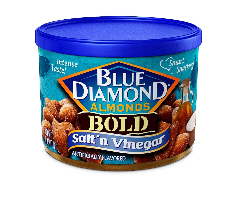 Blue Diamond Almonds, Bold Salt 'n Vinegar, 6 Ounce