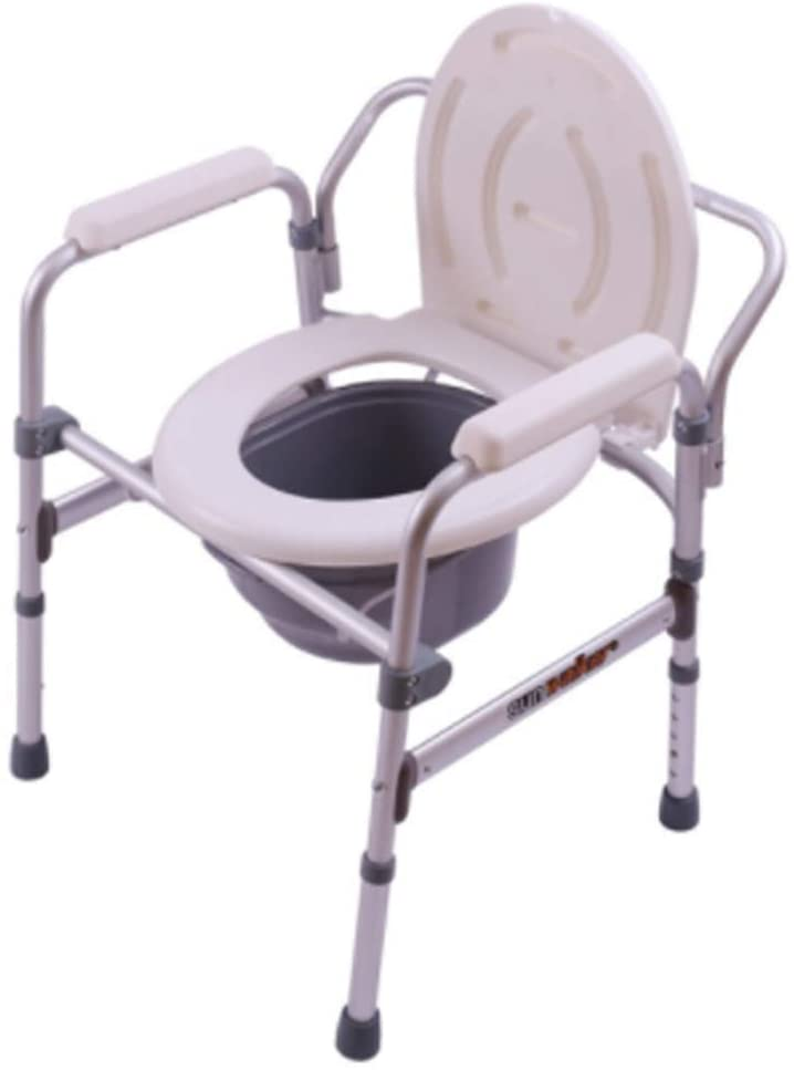 CSS Medical Height Adjustable Shower Bedside Toilet Chair | Ergonomic Backrest | Toilets for The Elderly, Disabled and Disabled