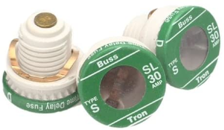 Bussmann BP/SL-30 30 Amp Time Delay Loaded Link Rejection Base Plug Fuse, 125V UL Listed Carded, 3-Pack by Bussmann