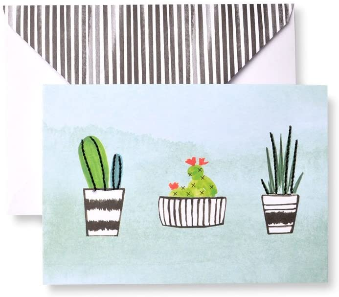 Stitched Cactus Note Cards
