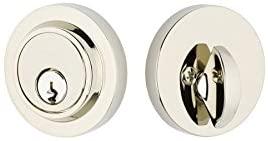 Emtek 8467-US14 Modern Deadbolt Polished Nickel