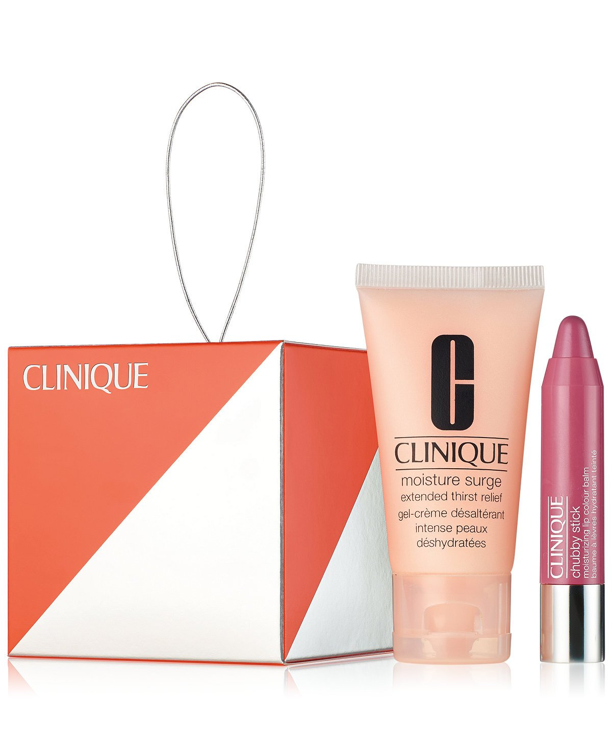 Clinique Giftset Moisture Surge Extended Thirst Relief 1oz & Chubby Stick Moisturizing Lip Colour Balm in Super Strawberry