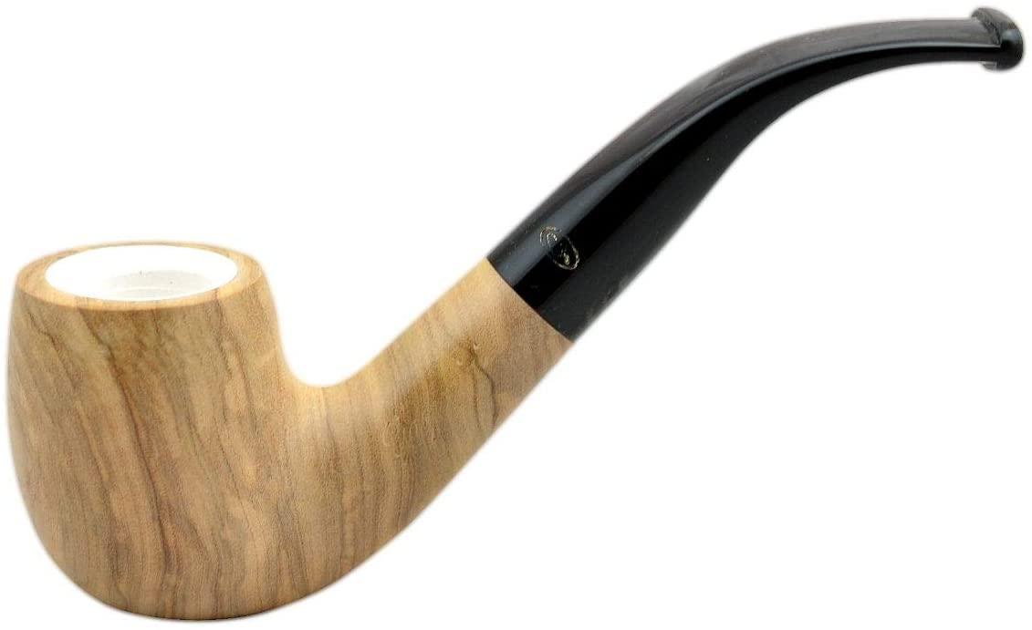 Gasparini ULIVO Olive Tree Bent Meerschaum Lined Tobacco Smoking Pipe
