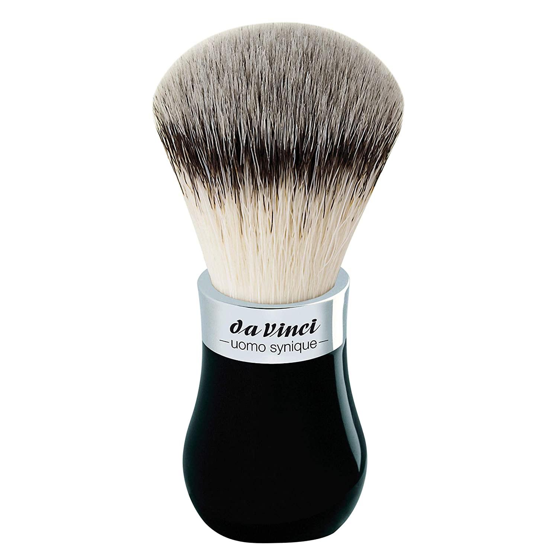 da Vinci Shaving Series 273 UOMO Synique Shaving Brush, Synthetic with Black Globe Handle, 22mm