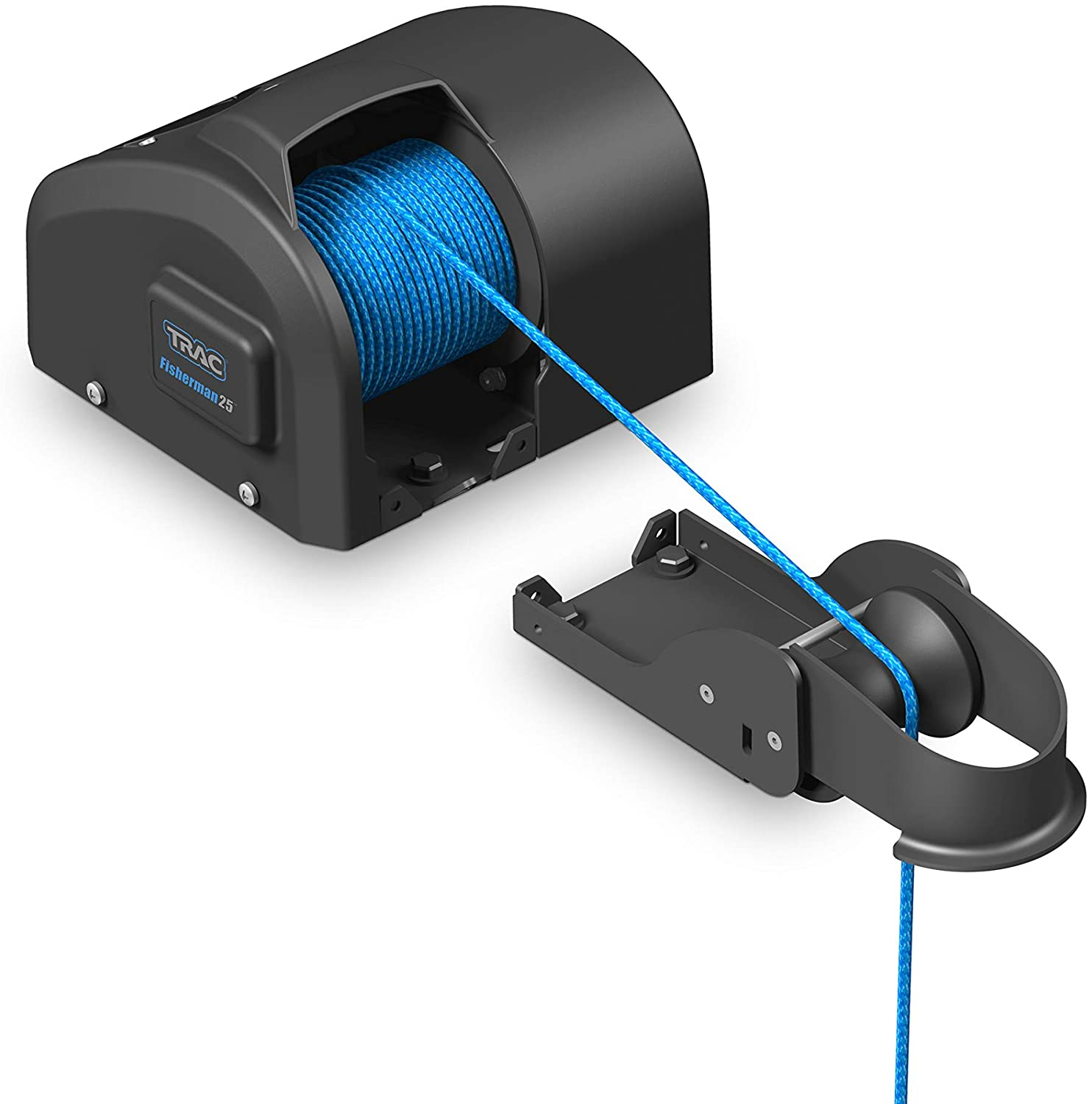 Trac Outdoors Fisherman 25-G3 Electric Anchor Winch - Anchors Up to 25 lb. - Includes 100-feet of Pre-Wound Anchor Rope with Use (69002)