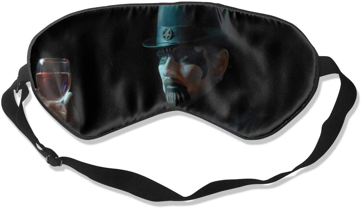WushXiao King Diamond Fashion Personalized Sleep Eye Mask Soft Comfortable with Adjustable Head Strap Light Blocking Eye Cover