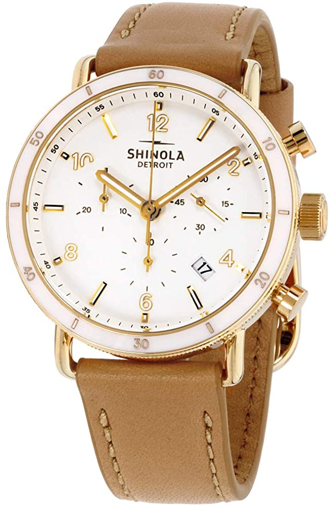 Shinola The Canfield Quartz Movement White Dial Ladies Watch S0120089885