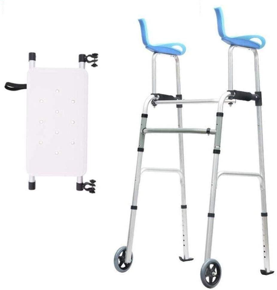 HTLLT Medical Instruments Aluminum Alloy Standard Walker Walking Frame with Armrest, Adjustable Height Medical Handrail Assist Walking Aid Can Sit Elderly Disabled