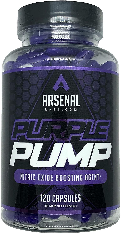 Purple Pump - 1500 mg L-Arginine Nitric Oxide Booster, 120 ct