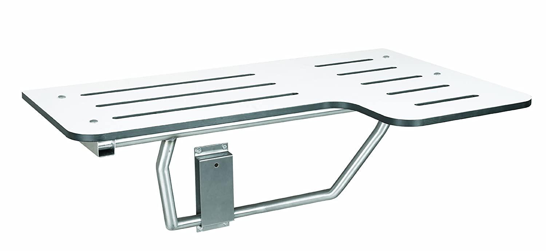 Bradley 9569-000000 White Phenolic Folding Shower Seat, 34-1/2