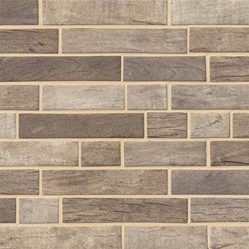 Driftwood Interlocking Pattern Recycled Glass Mosaic, 10.4SFT/Case (10 Pcs)