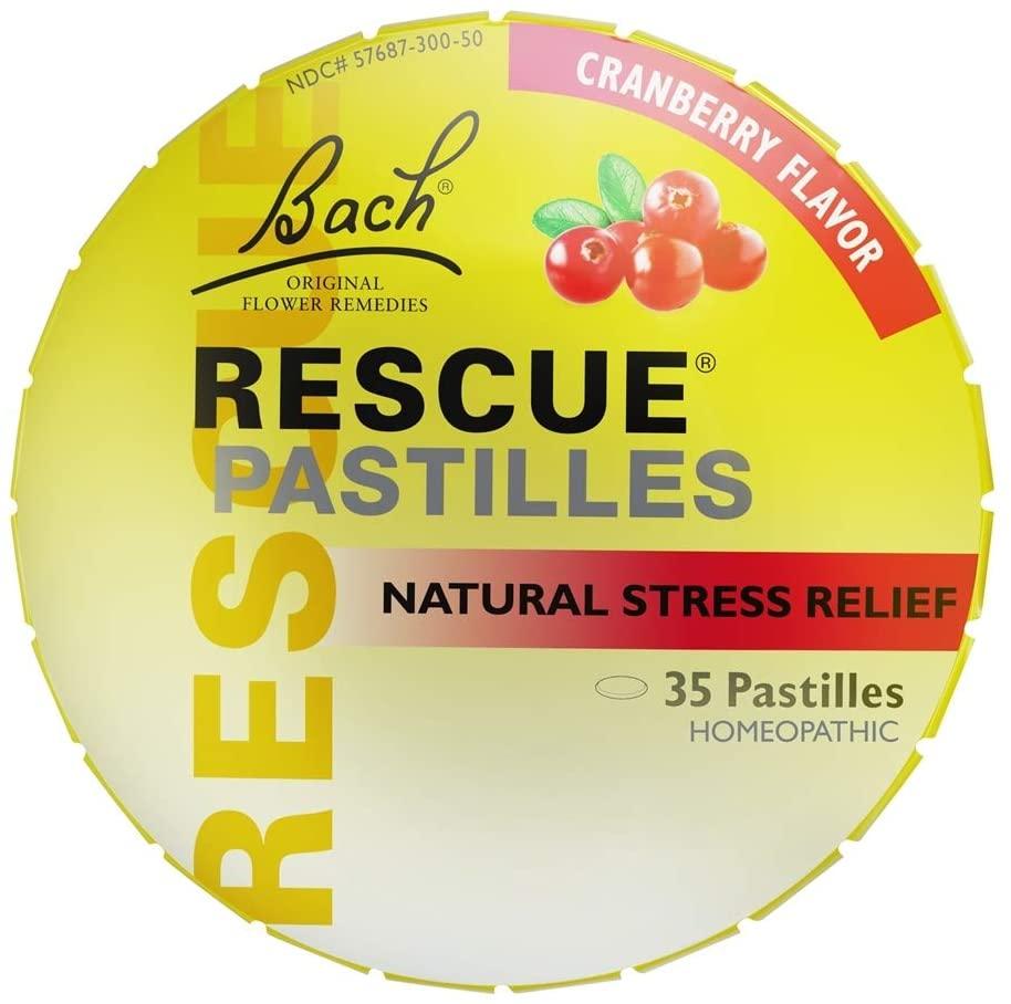 Bach, Rescue Pastilles Cranberry, 1.7 Ounce