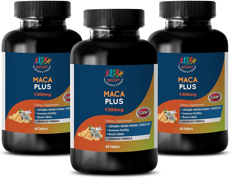Support libido - MACA Plus - Maca Root Tablets Fertility - 3 Bottles 180 Tablets