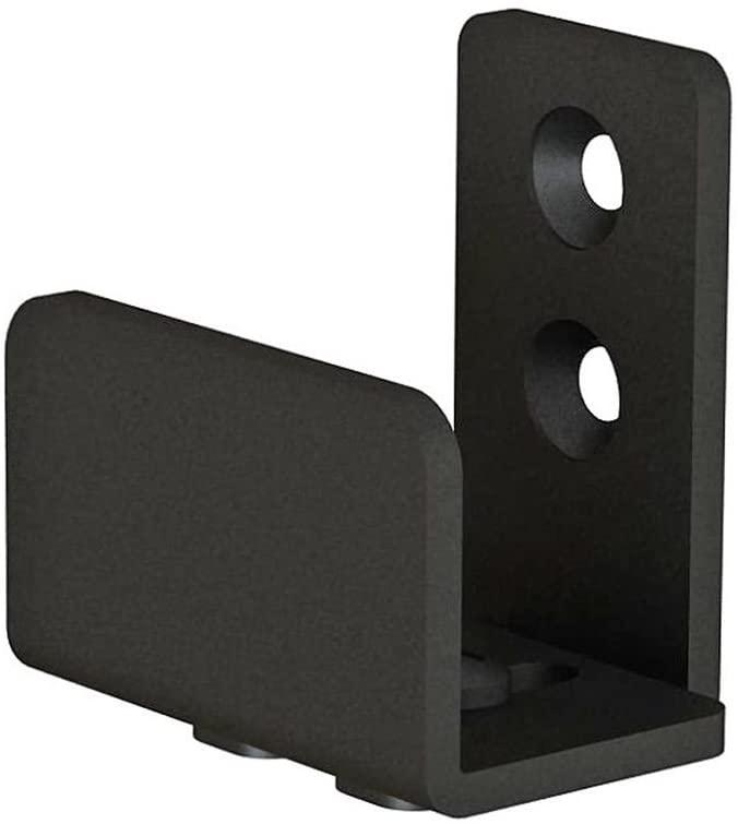 JUBEST Matte Black Floor Guide Wall Mount Sliding Barn Door Hardware Up to 1-3/8