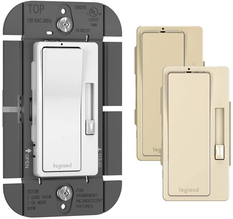 Legrand - Pass & Seymour RH1103PTCCCV6 120V, 1100W Single Pole/3-Way Dimmer Switch