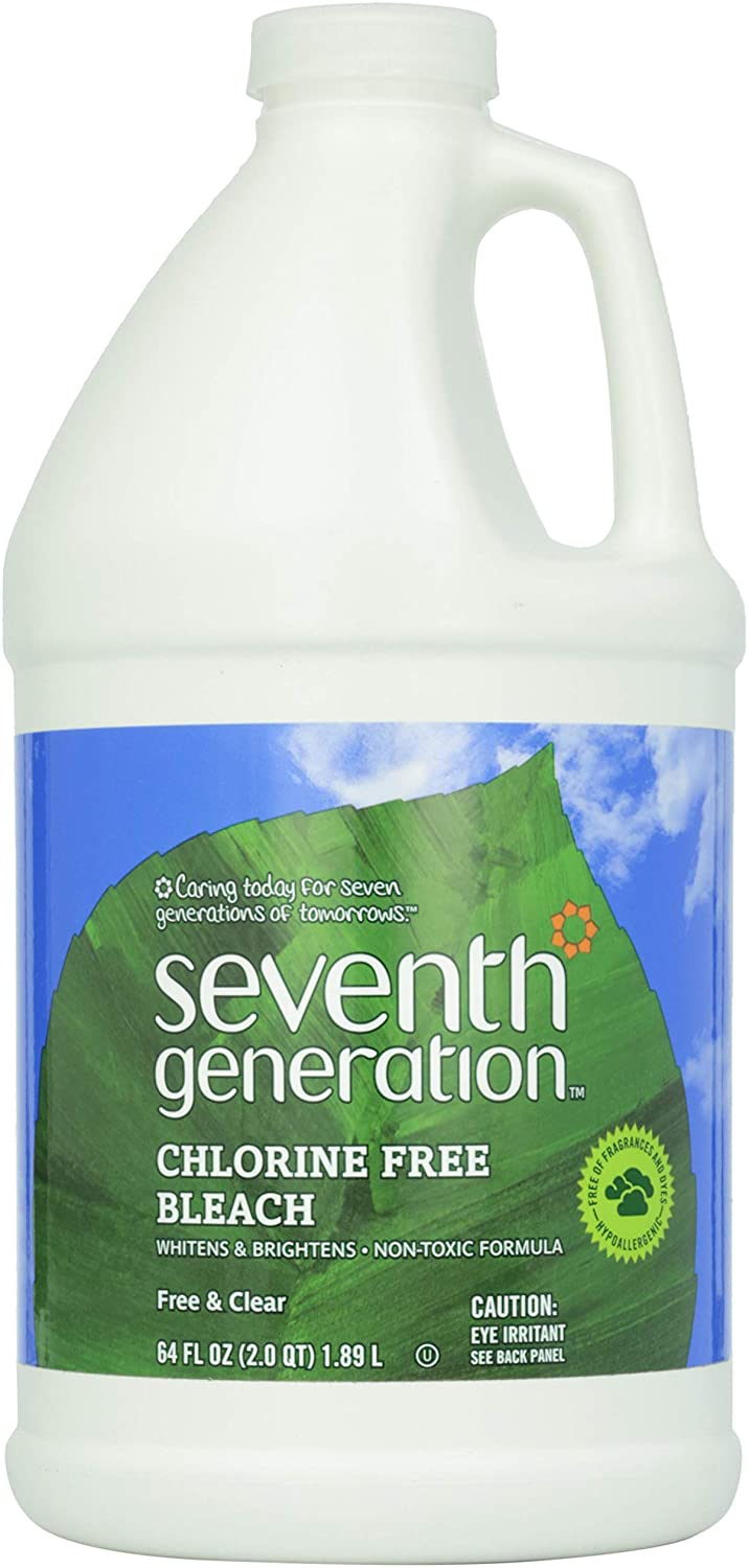 Seventh Generation Chlorine Free Bleach, Free & Clear, 64 oz