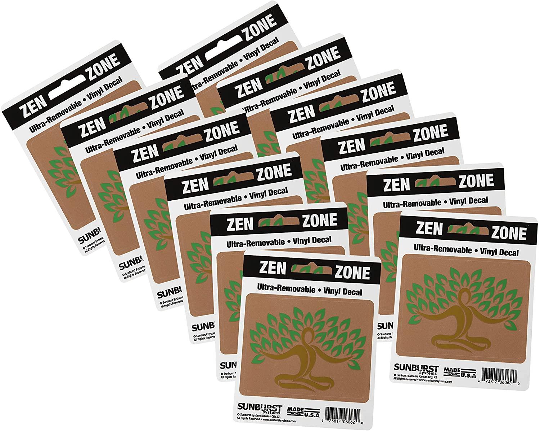Sunburst Systems 6262 Zen Zone Decal, Assorted, 12 Piece