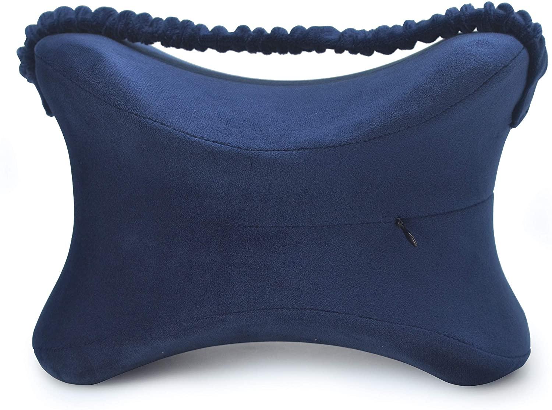 zhihuoyou Leg Pillow Leg positioner Pillows Pillow for Pregnant Woman Cotton Pillow Butterfly Shape Dark Blue