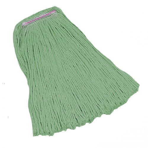 HUB City Industries 240MH-MG Green Mirage Hd Cotton/Synthetic Blend Cut End Mops, Narrow Band, 24 oz.