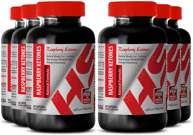 Raspberry Ketones Drops Weight Loss - Raspberry Ketones Natural Formula 1200 MG - Improve Body Weight (6 Bottles)