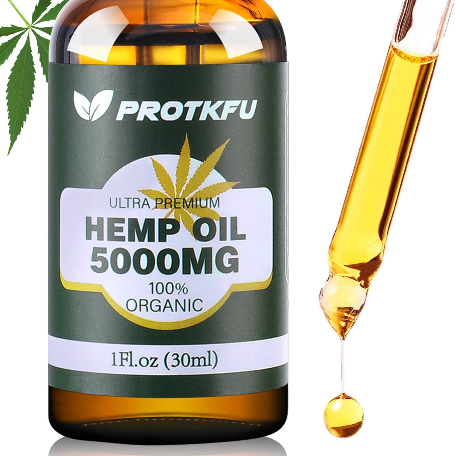 5000MG Hemp Oil for Pain, Anxiety & Stress Relief - 100% Natural Organic Hemp Extract - Rich in Vitamin & Omega, Helps with Deep Sleep Skin & Hair Health, Immune System Support
