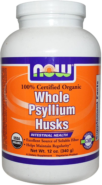 Now Foods Organic Psyllium Husk Whole 12 Ounce, 12.0 Ounce