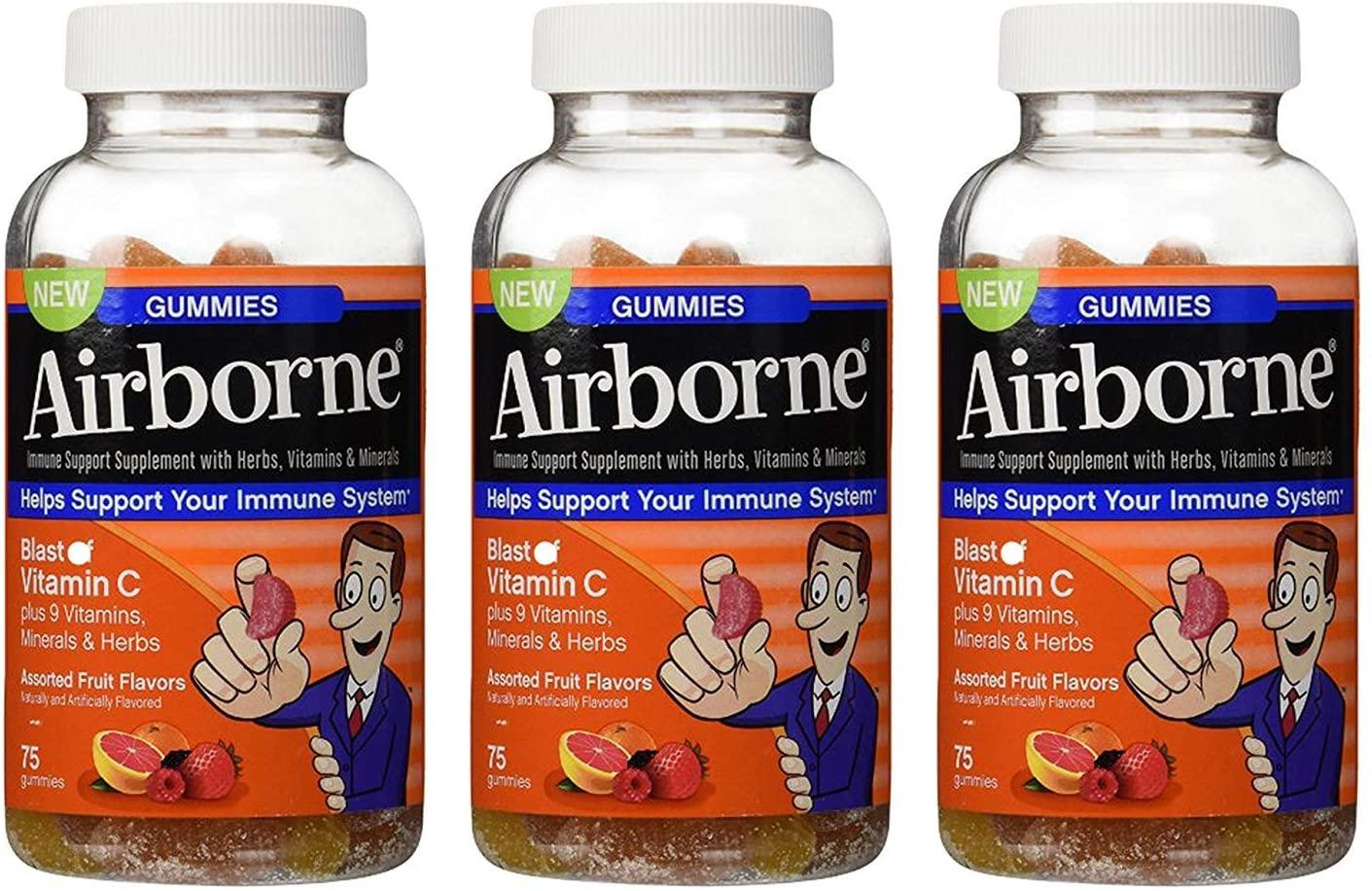 Airborne Gummies Blast of Vitamin C 75 Gummies(Pack of 3)