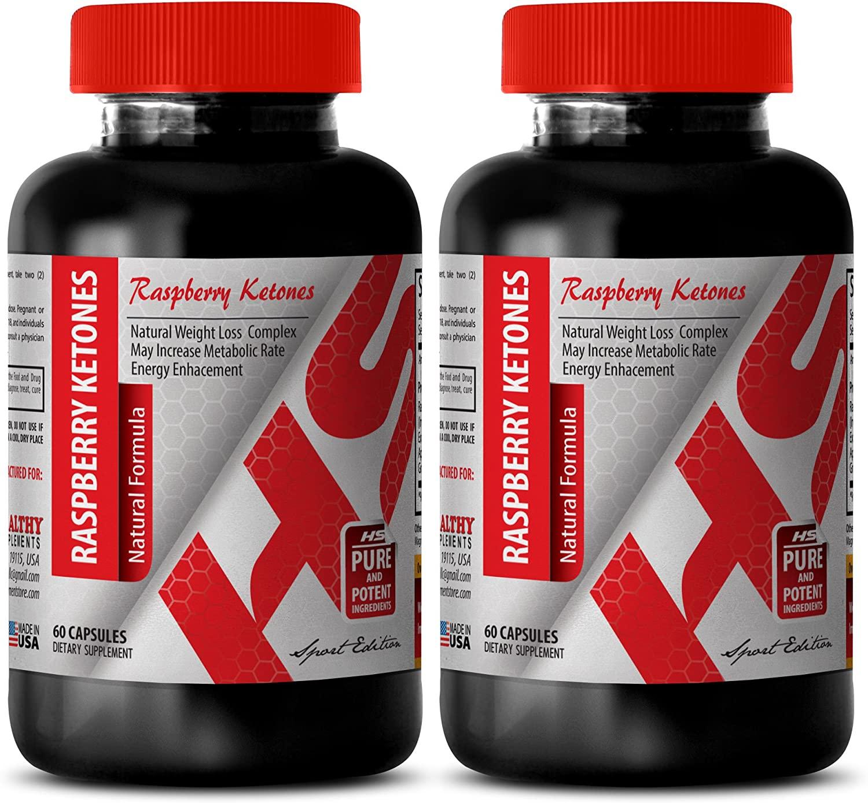 Weight Loss Food - Raspberry Ketones 1200MG - Natural Formula - Raspberry Ketone fit - 2 Bottles (120 Capsules)