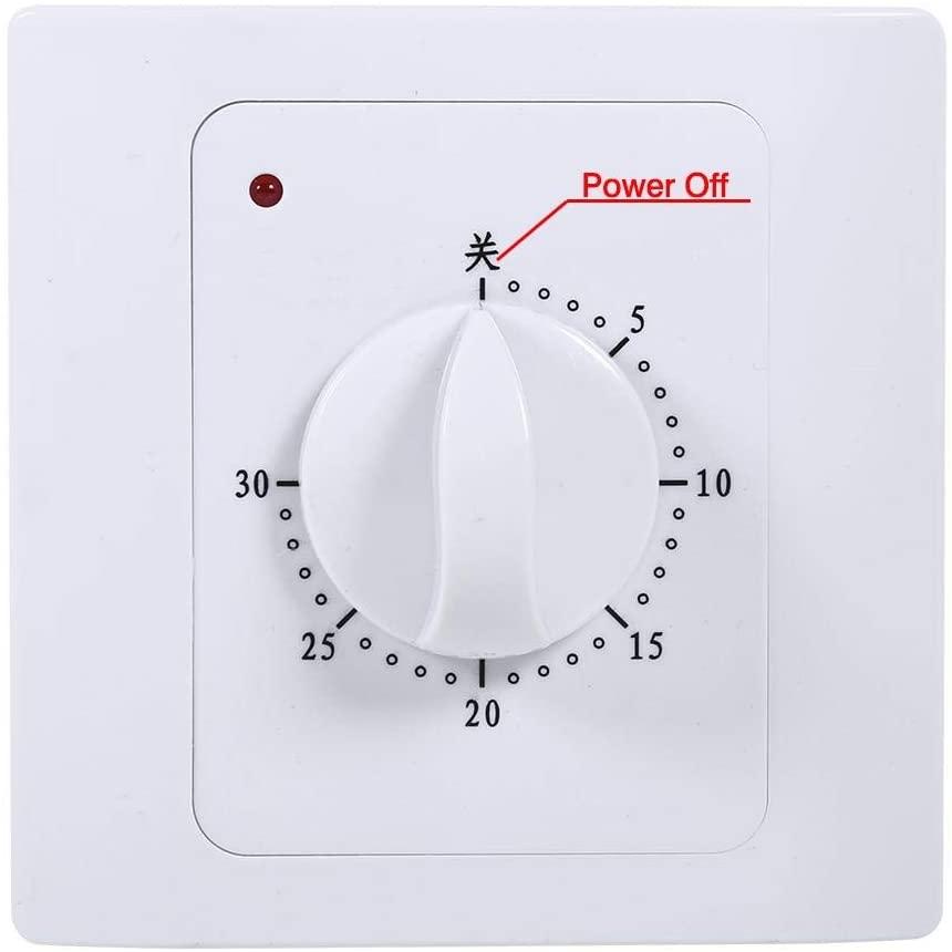 Timer Plug - 220V 10A 30Min Electric Time Countdown Digital Timer Switch Control Socket