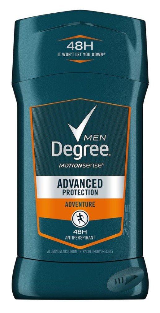 Degree Men Adventure Advanced Protection Antiperspirant Deodorant Stick, 2.7 oz (Pack of 3)