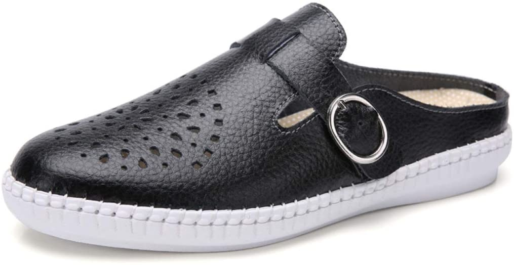 bredLily Women Shoes Flats Sneaker Loafers Genuine Leather Moccasins Summer Air Mesh Casual Ladies Leather Footware