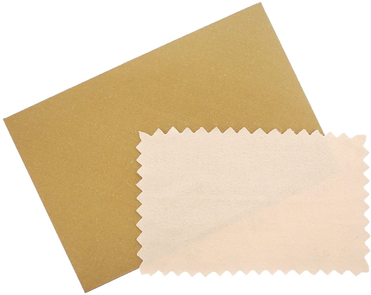 SOVATS Semi-Chamois Polishing Cloth for Silver Gold Brass & Most Other Metals, 3.5x2.5, Card Size