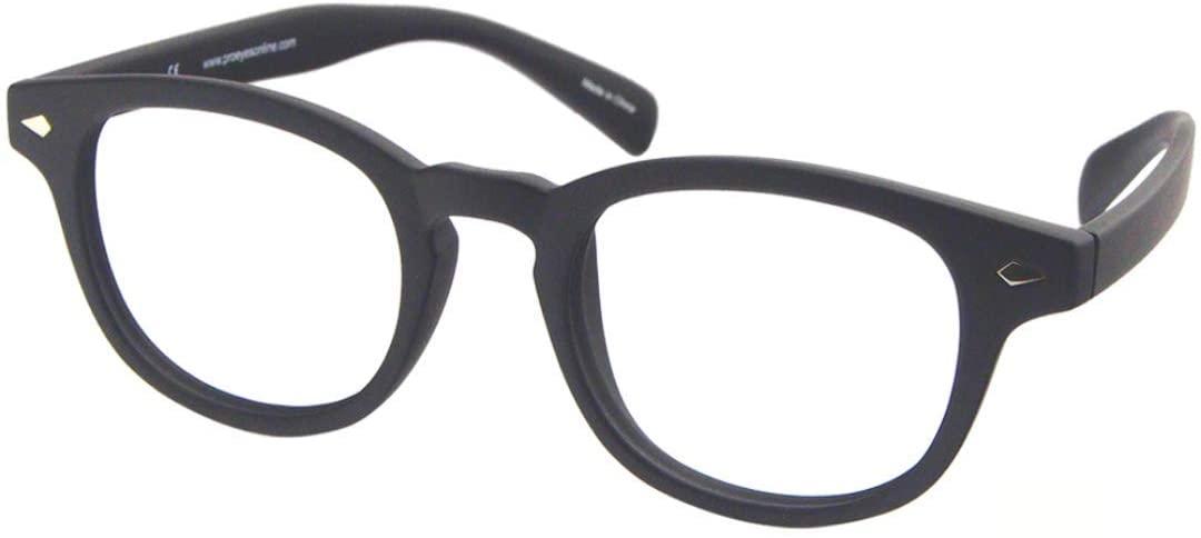 ProEyes Gravity, Progressive Multifocus Reading Glasses, Zero Magnification on Top Lens, Resin Lens, Anti Blue Light (Gravity Black, 1.50 x)