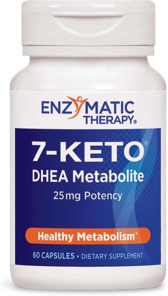 Enzymatic Therapy 7-KETO3 DHEA Metabolite, 25mg Potency, 60 Capsules