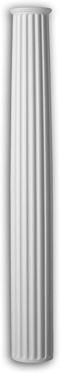 Half Column Shaft Profhome 446301 Exterior Trim Column Facade Element Corinthian Style White