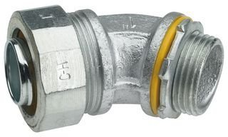 CROUSE-HINDS LT7545 CONDUIT GLAND, 45DEG, NON-INSULATED, IRON, 0.75