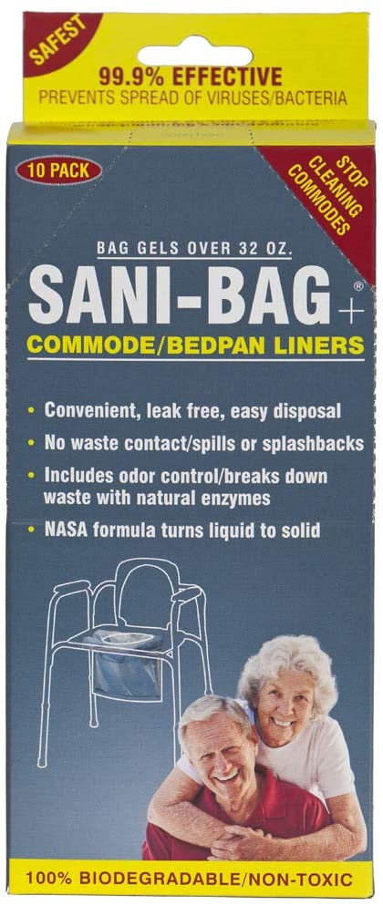 Cleanwaste Sani Bag-Plus Commode Liners-50 Bulk Pack (H651S50)