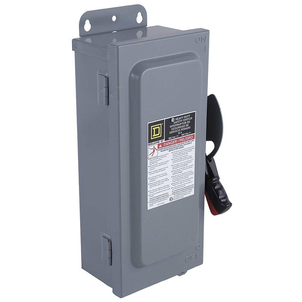 30 Amp 240VAC/250VDC Single Throw Safety Switch 3P