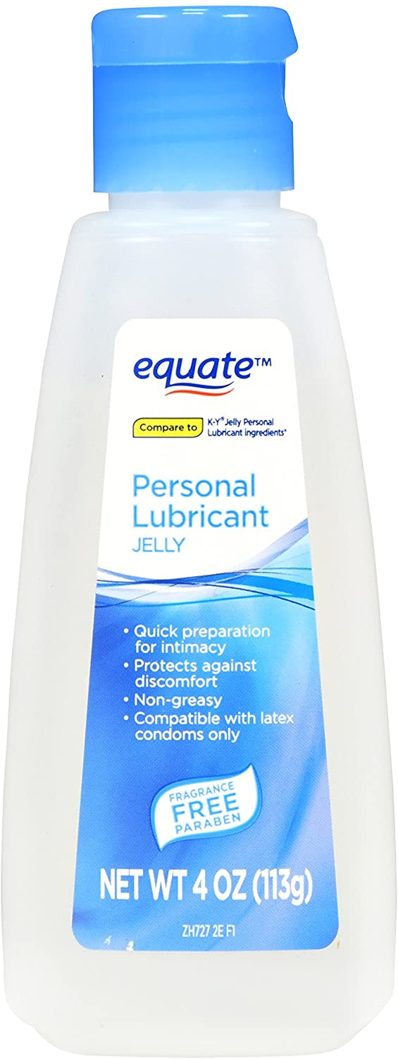 Equate Personal Lubricant Jelly, 4 oz - Pack of 2