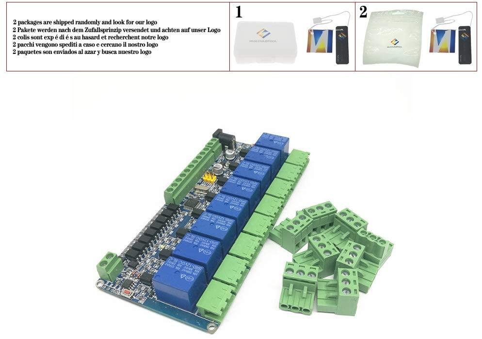 1PCS Modbus rtu 8-channel relay module 485 TTL communication 8-channel input relay module