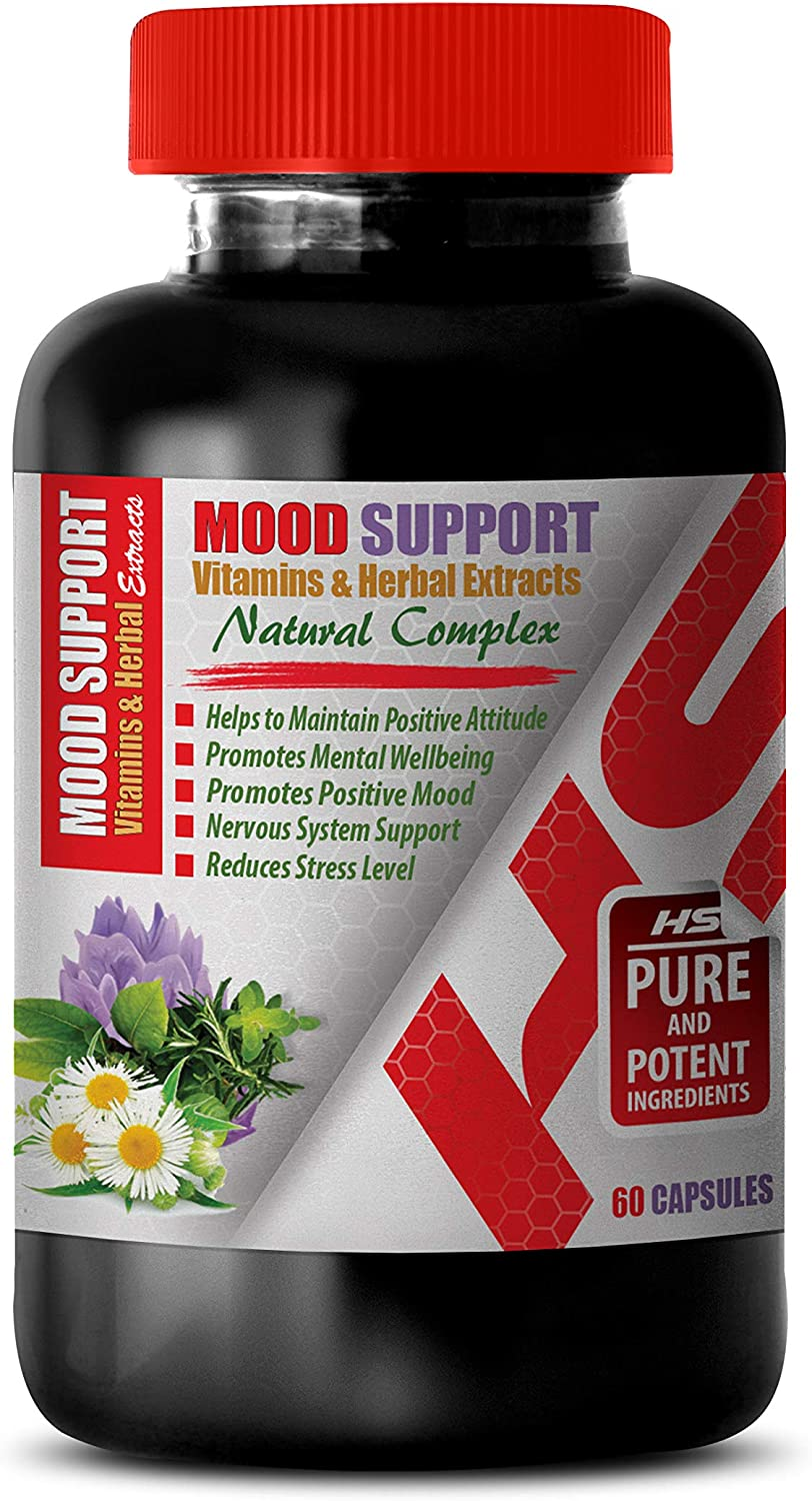 Depression Relief Supplements - Mood Support Vitamins and Herbal EXTRACTS - Natural Complex - ashwagandha Extra Strength - 1 Bottle 60 Vegetable Capsules