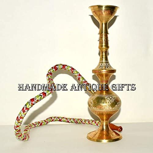 Nautical Gift Decor Mini Brass Hookah Small Shisha Narguile Nargila Hukka Hooka Chicha