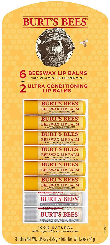 Burts Bees Lip Balm Variety Pack, 8 pk.