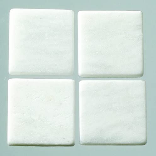 MosaixPur Mosaic Tiles Natural Stone 10 x 10 x 4 mm 200 g ~ 205 pcs. White Marble