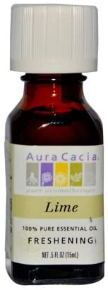 AURA CACIA ESSENTIAL OIL,LIME, .5 FZ